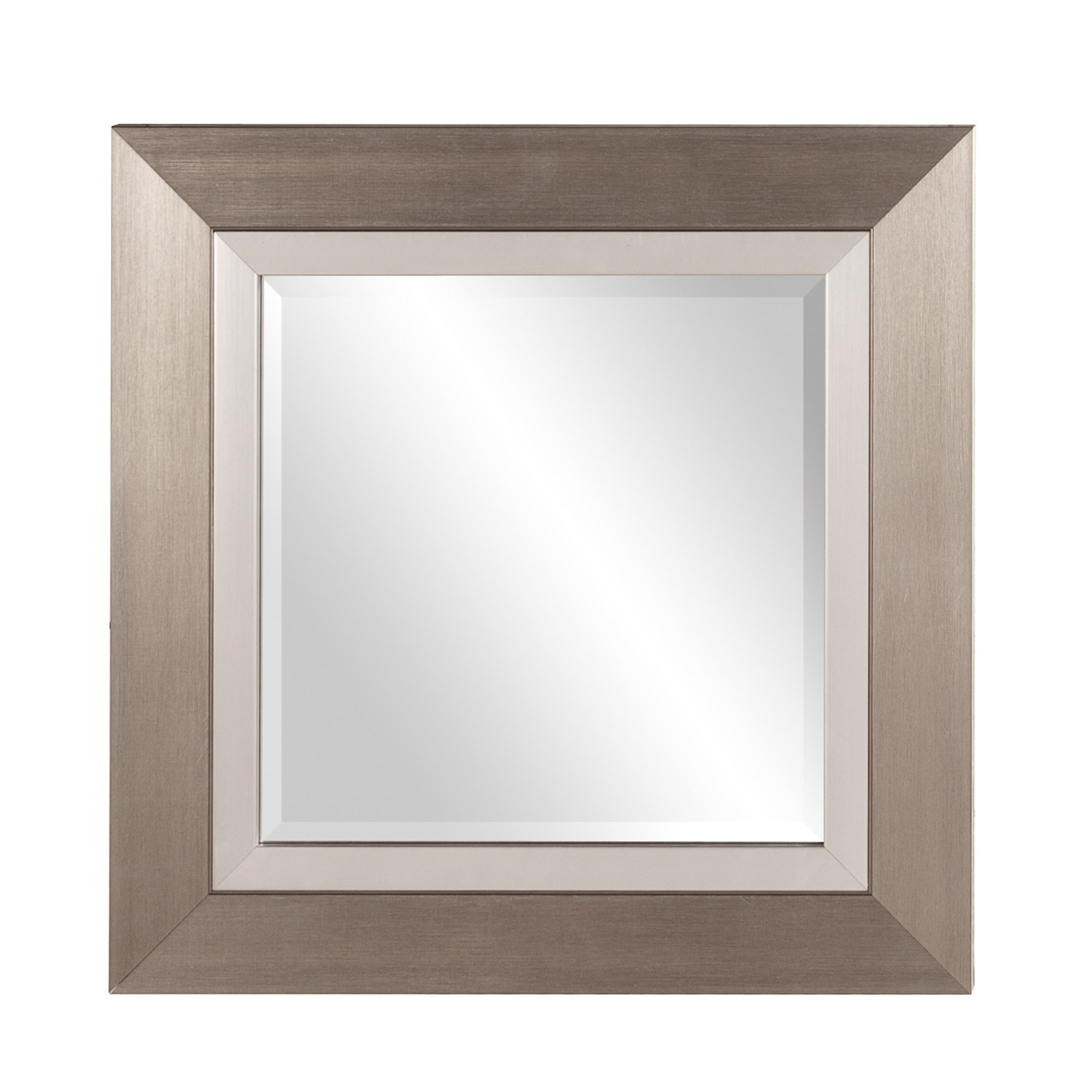 Howard Elliott 69042 Chicago Square Mirror, 18 x 18-Inch, Brushed Silver