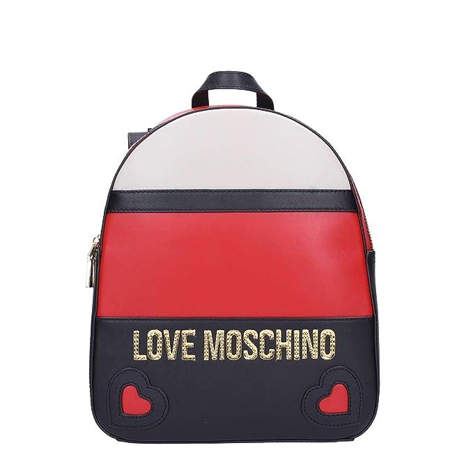 Love Amazon Zaino Jc4338pp06 Nerorosso Donna Tu Moschino it rfq1RSr