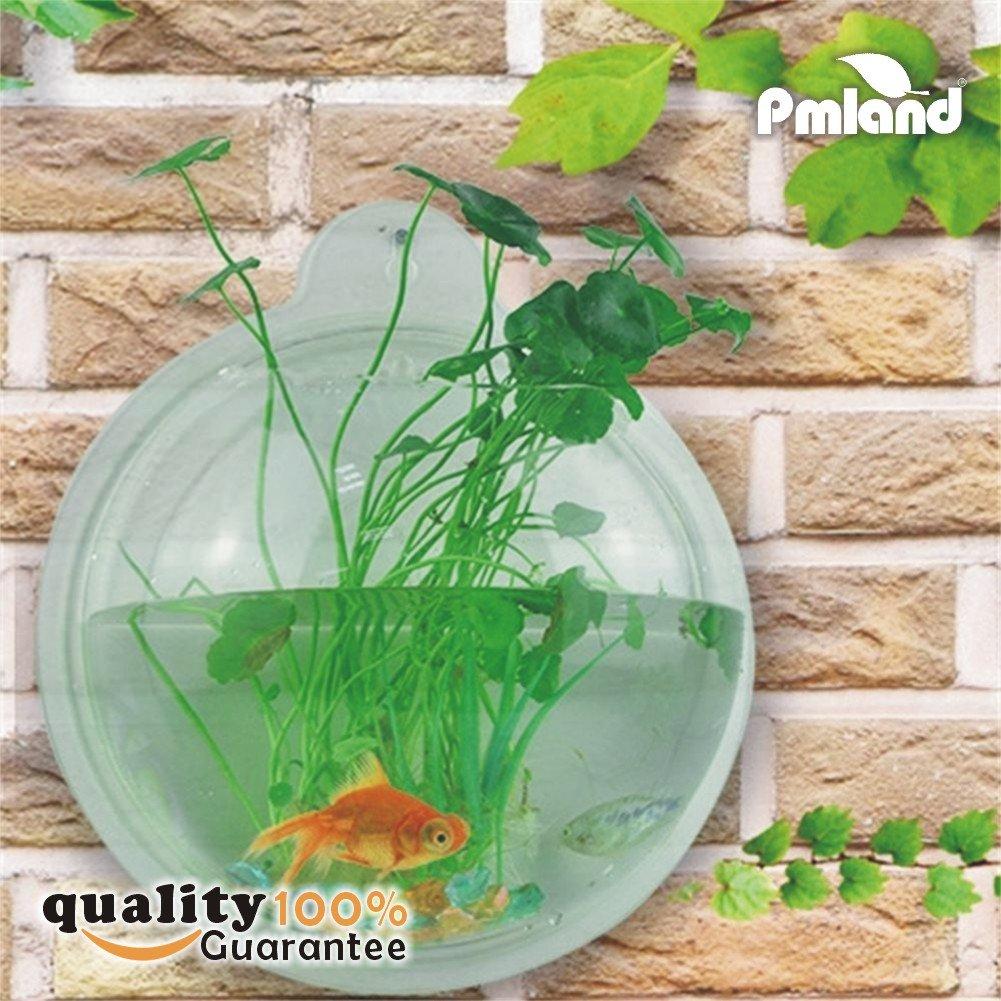 PMLAND Wall Mounted Acrylic Fish Bowl
