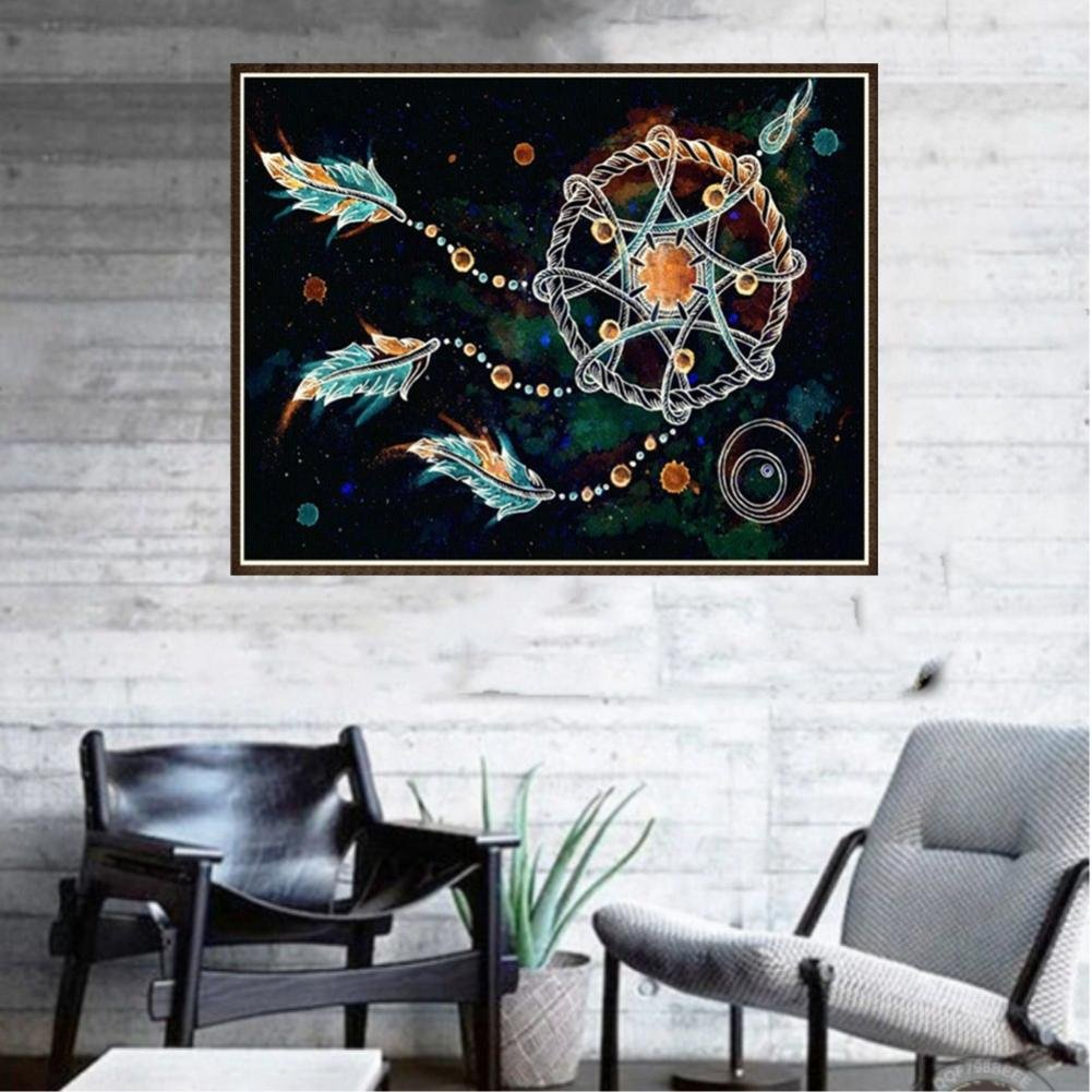A 5D Diamond Painting Kits for Adults Staron Dream Catcher 5D Diamond Painting Cross Stitch Kit Clearance Home Decor Crystal Embroidery Pictures DIY Diamond Painting Kits Wall Art Decor
