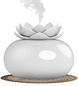 Ceramic Essential Oil Diffuser,YJY USB Personal Humidifiers for Bedroom Home Office,Cute Aromatherapy Diffuser Auto Shut-off Mini Vaporizers for Baby Kids Desk(White)