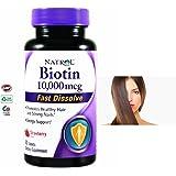 Vitaminas Para La Perdida Del Cabello- 10,000mcg - 60 Tabletas - Crecen y Fortalecen