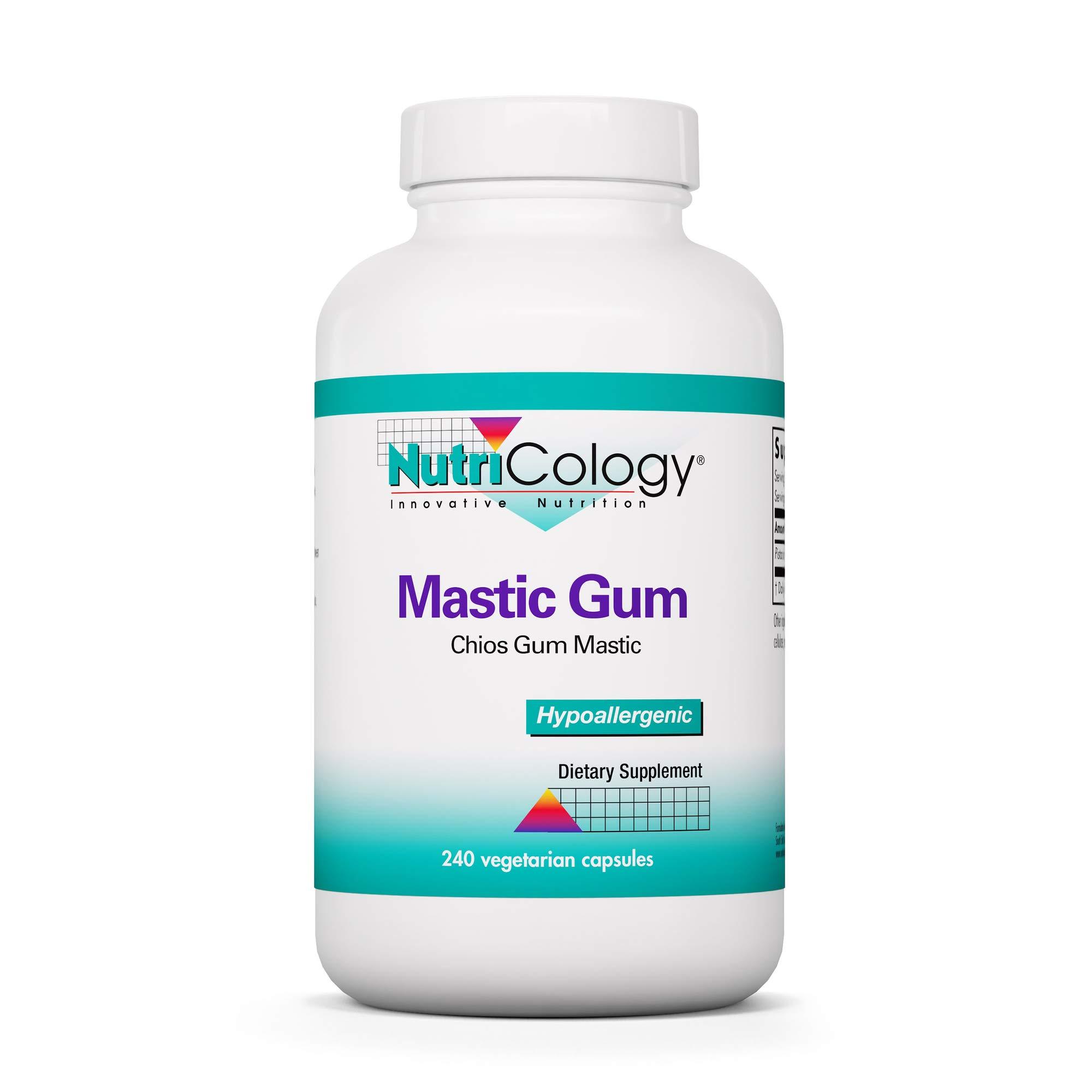 NutriCology Mastic Gum - Authentic Chios Mastiha - GI Health, Metabolism - 240 Vegetarian Capsules