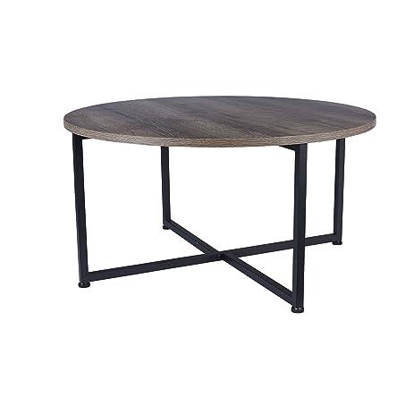Amazoncom Household Essentials 80791 Ashwood Round Coffee Table