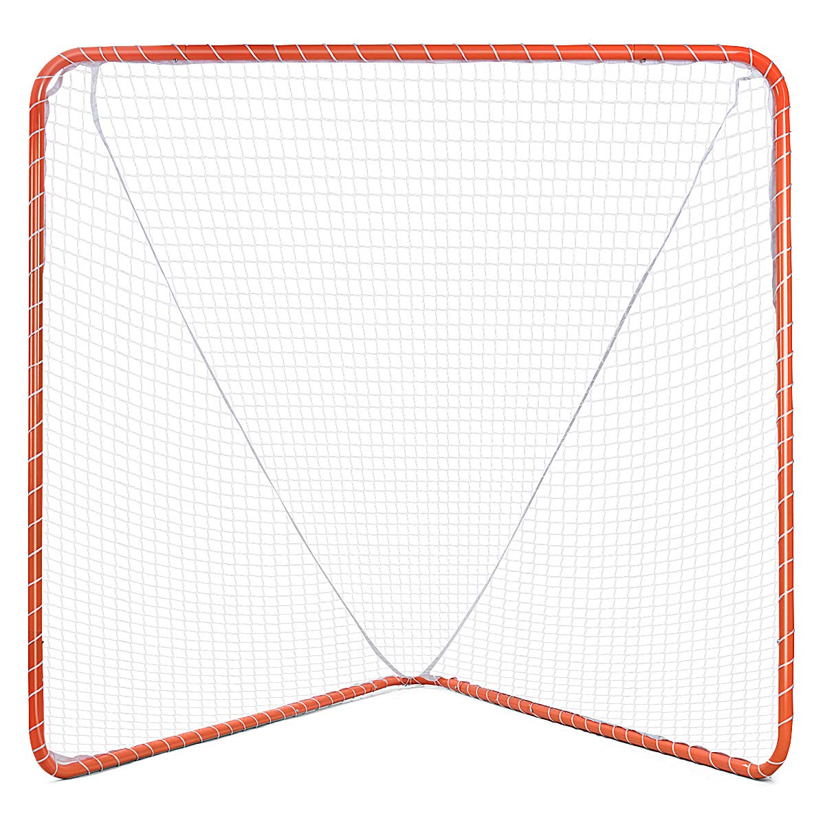 GOPLUS Lacrosse Goal, 6' x 6' Practice Lacrosse Goal and Net for Indoor & Outdoor Backyard Shooting Training Playing with Easy Snap Lock Iron Frame Net Included