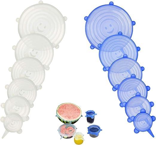 Dehnbare Silikondeckel Set frischhaltedeckel Abdeckung Wiederverwendbar stretch