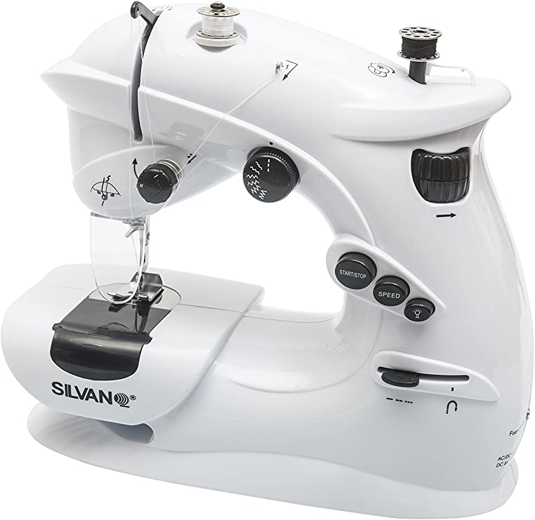 Maquina de coser portatil 7 puntadas corriente y pilas pedal ...
