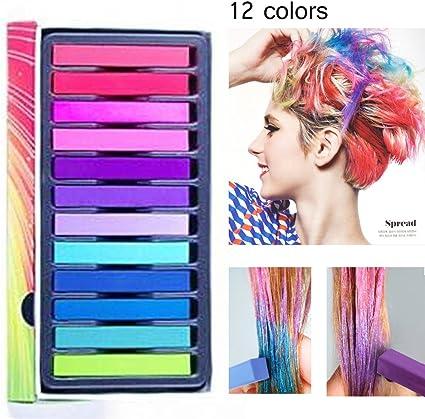 LDreamAM® - Cepillo con tiza de color para tinte temporal del pelo, crema colorante, herramienta desechable instantánea, para cosplay, disfraces, 6 ...