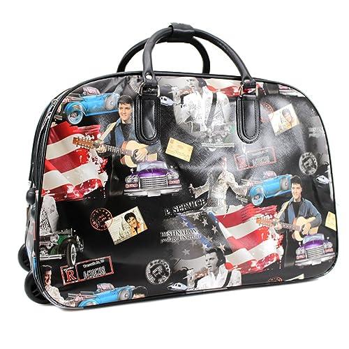 ydezire - bolso de mano para mujer, para viaje corto, Con Ruedas, color