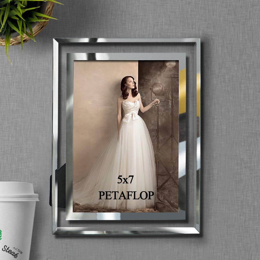 PETAFLOP Fotorahmen Glas Bilderrahmen 15x15 Photo Rahmen Hochzeit 15er Set  Geschenk