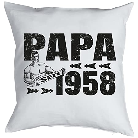Happy 60th Birthday Dad Gifts For Him Man Decorative Pillow Cover Papa Since 1958 Print