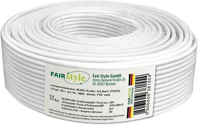 Fair Style Made In Germany 20m Lautsprecherkabel Elektronik