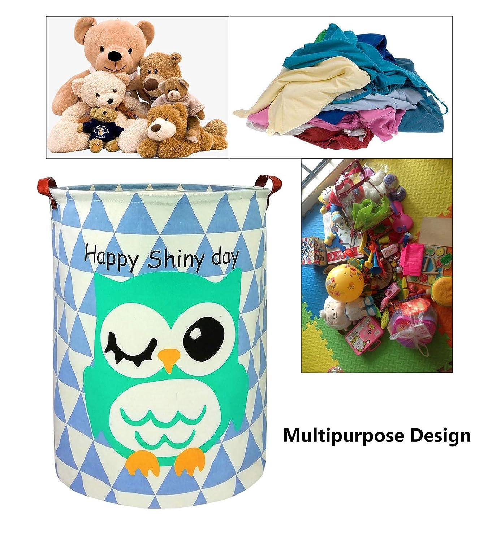 HOUSESTORAGE Laundry Hamper Storage Bin Baskets Foldable Nursery Laundry Basket for Organizing Kids Toy//Office//Bedroom//Toy Bin//Closet//Shelf Baskets//Baby Hamper Black Triangle