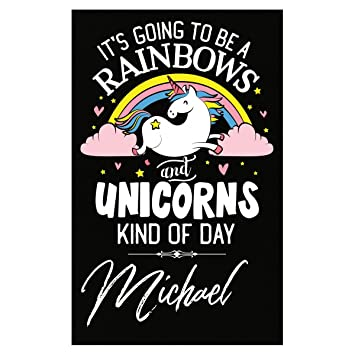 Amazon com: Rainbows Unicorns Kind Of Day Michael Girl Name