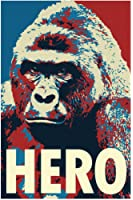 Harambe Pop Art Hero Gorilla Memorial Portrait Poster 24x36