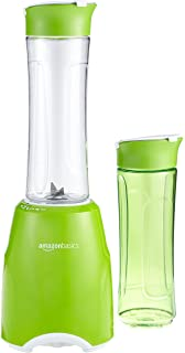 AmazonBasics Mix & Go - Batidora de vaso para smoothie (300 W, 2 vasos