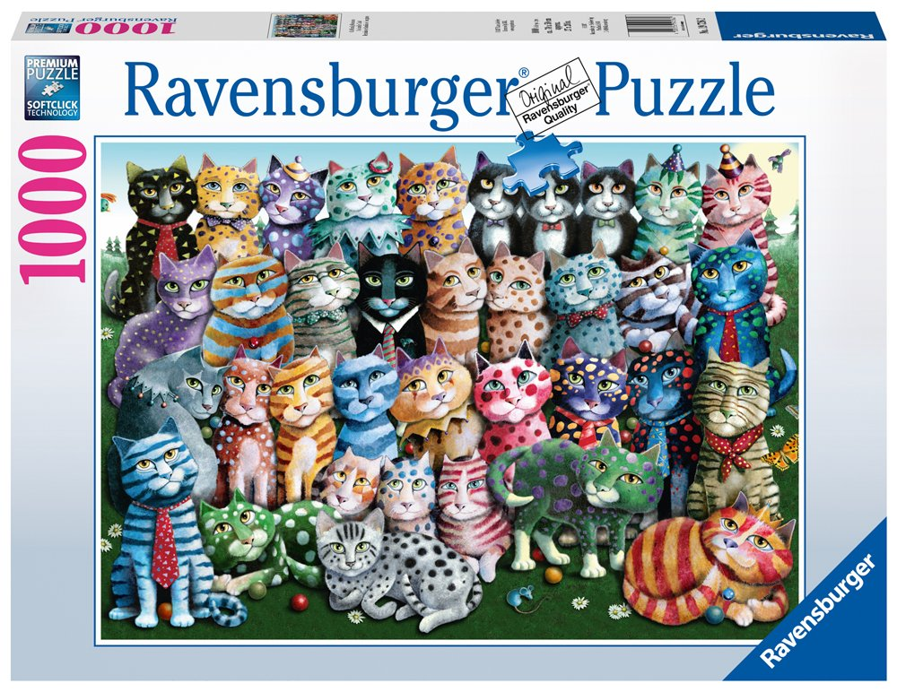 Ravensburger -Cat Family Reunion - 1000 pc Puzzle 19726