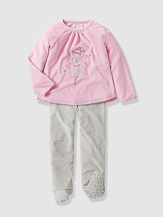 16a8c7ecad415 Vertbaudet - Pyjama fille velours avec pieds: Amazon.fr: Vêtements ...