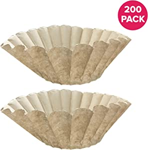 Think Crucial Replacement Coffee Filter – Compatible with Bunn Unbleached Paper Coffee Filter Part # 1M5002, 20115.0000 – Fits Bunn Coffee Maker, 12 Cup Commercial Coffee Brewers (200)