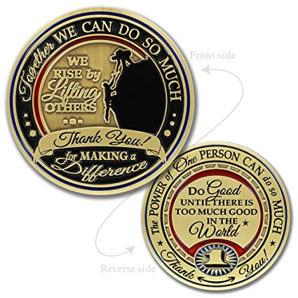 Thank You Gift challenge coin · Power of One · Make a Difference