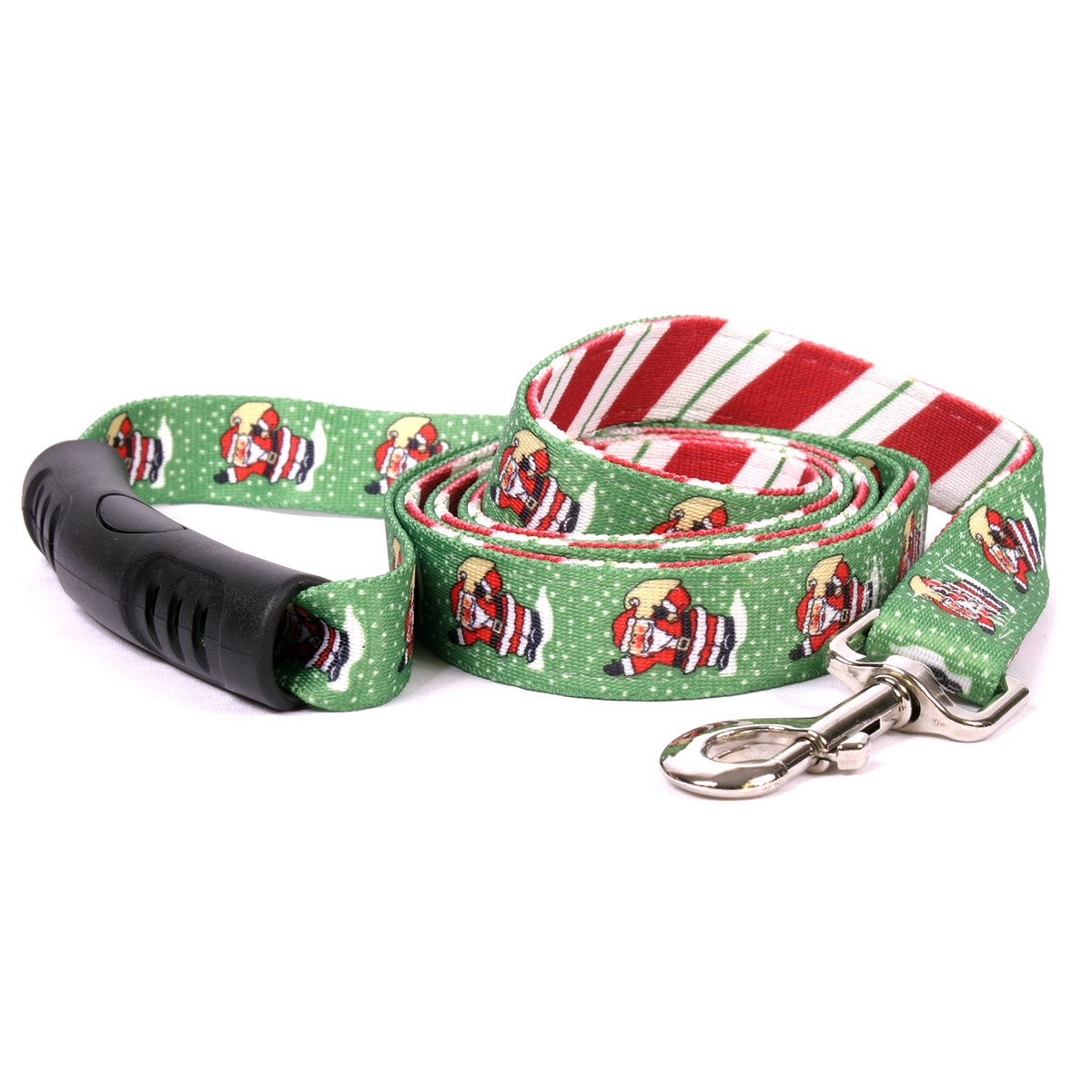 Yellow Dog Design Santa Claus Uptown Dog Leash-Size Large-1 Inch Wide and 5 feet (60 inches) Long by Yellow Dog Design