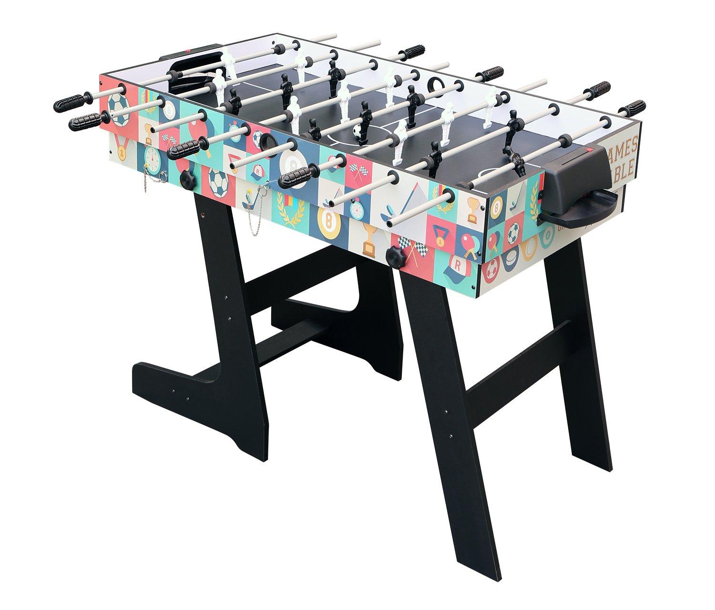 Hj Hlc Mesa Multijuegos Plegable 4 En 1 Mesa De Billar Ping Pong