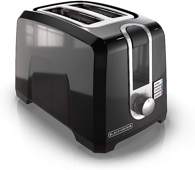 BLACK+DECKER 2-Slice Extra-Wide Slot Toaster, Square, Black, T2569B   Amazon