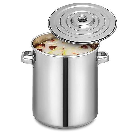 Anhon Cubo de Sopa de Acero Inoxidable de 60 x 60 cm Pote de ...