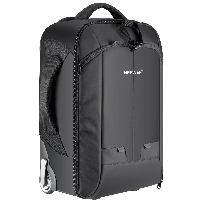 Neewer – Mochila convertible en maleta de ruedas para cámaras SLR/DSLR y accesorios (NW3300), negro 10090736
