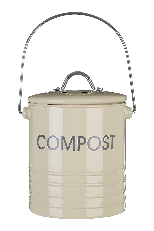 Premier Housewares Compostiera con Maniglia, Crema 0510020