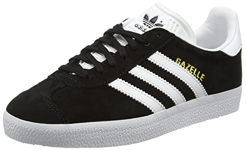 Adidas Gazelle Shoes Black White Gold UK 3.5: Amazon.in ...