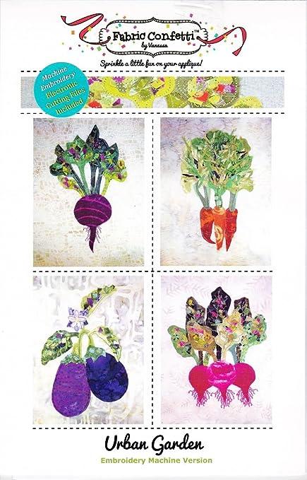 Amazon Urban Garden Machine Embroidery Design From Fabric