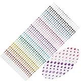 SANC 900 Pieces 3mm 4mm 5mm Multicolor Bling