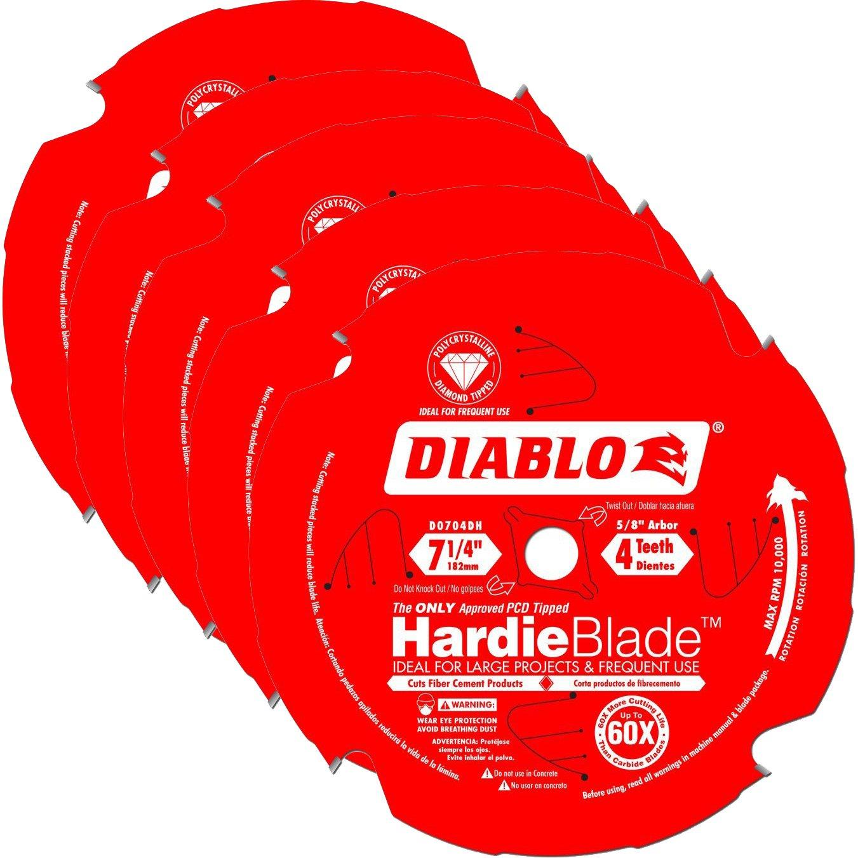 Hoja Sierra Diablo por Freud D0704D Ø184mm - 4 Dientes - eje 16mm para Fibrocemento [4un]