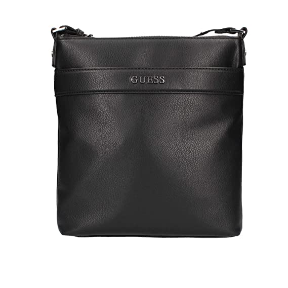 e8715c77b7 Guess Hm6577pol84 Shoulder bag Man Black TU  Amazon.co.uk  Clothing
