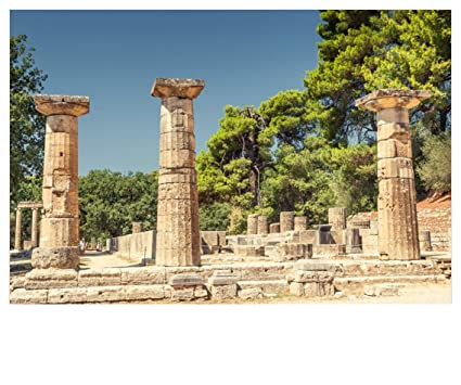 Amazon Com Lfeey 5x3ft Antique Greece Sanctuary Pillar Photography