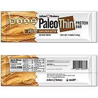 Paleo Thin : 20g Protein Bar (Egg White) (Sunflower Butter) (150 Calories) (1 Net Carb) (12 Bars)