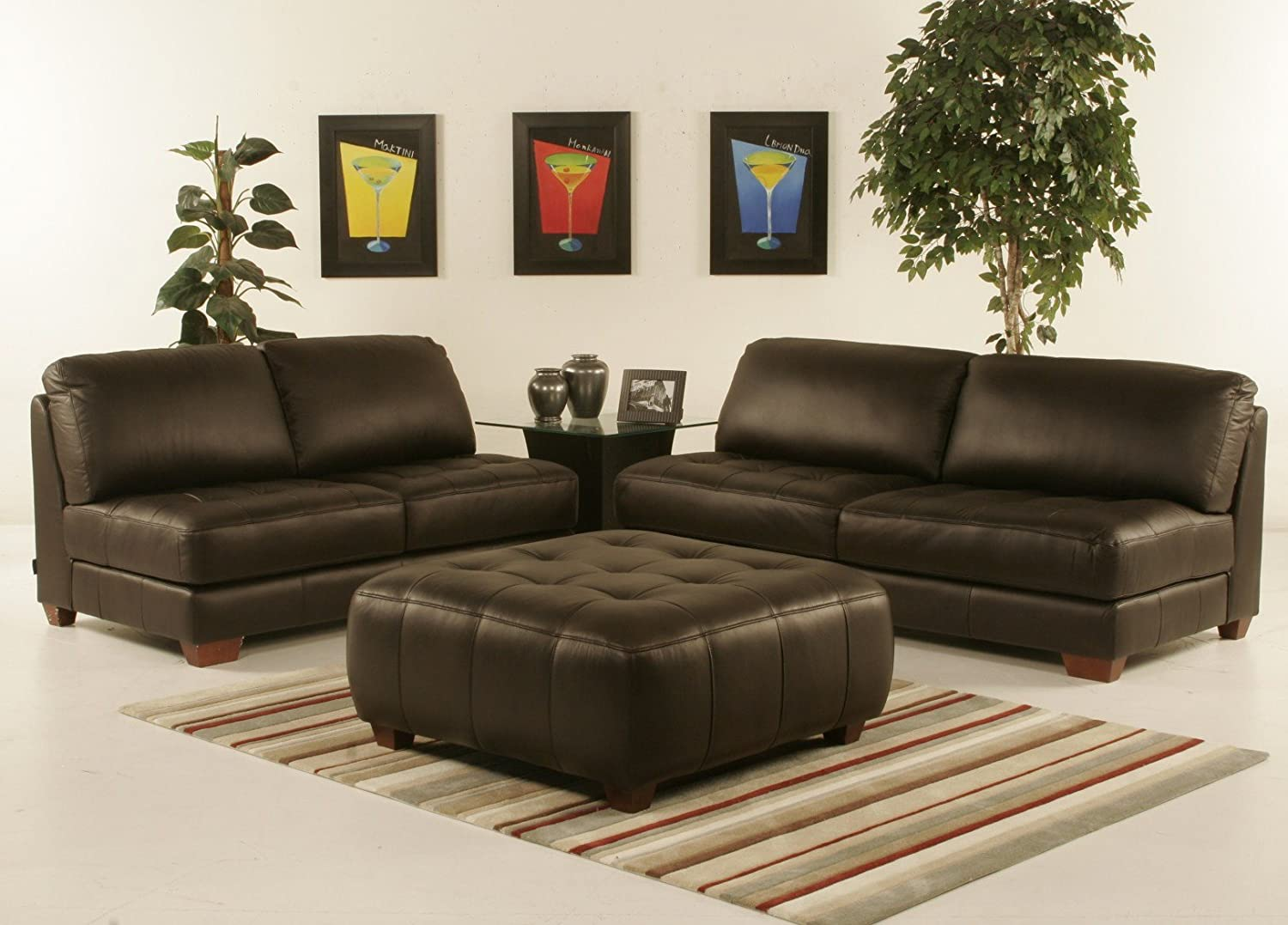 Excellent Amazon Com Diamond Sofa Zen Collection Armless All Leather Download Free Architecture Designs Scobabritishbridgeorg