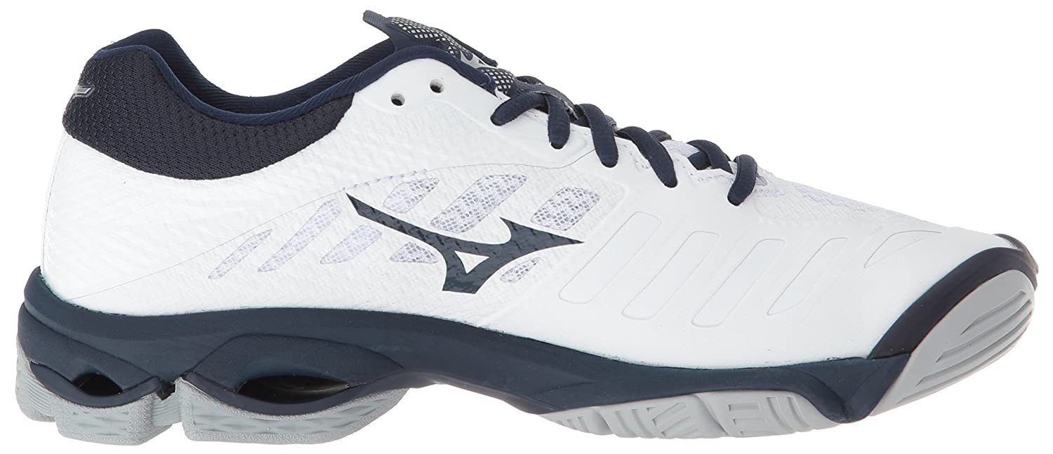 Mizuno Women's Wave Lightning Z4 12 Volleyball Shoe B0782BL9XL Women's 12 Z4 B US|White/Navy 72919e