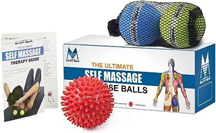Doble juego de pelota con pinchos y pelota de lacrosse para ...