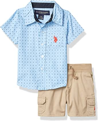 U.S. POLO ASSN. Baby Boys' Shorts Set