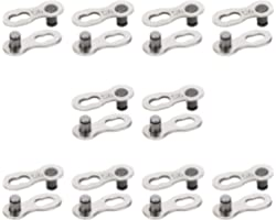 QKURT 10 Pairs 20pcs Bicycle Missing Link for 9 Speed Chain, Professional Reusable Bicycle Chain Link Connector, Steel Bike C