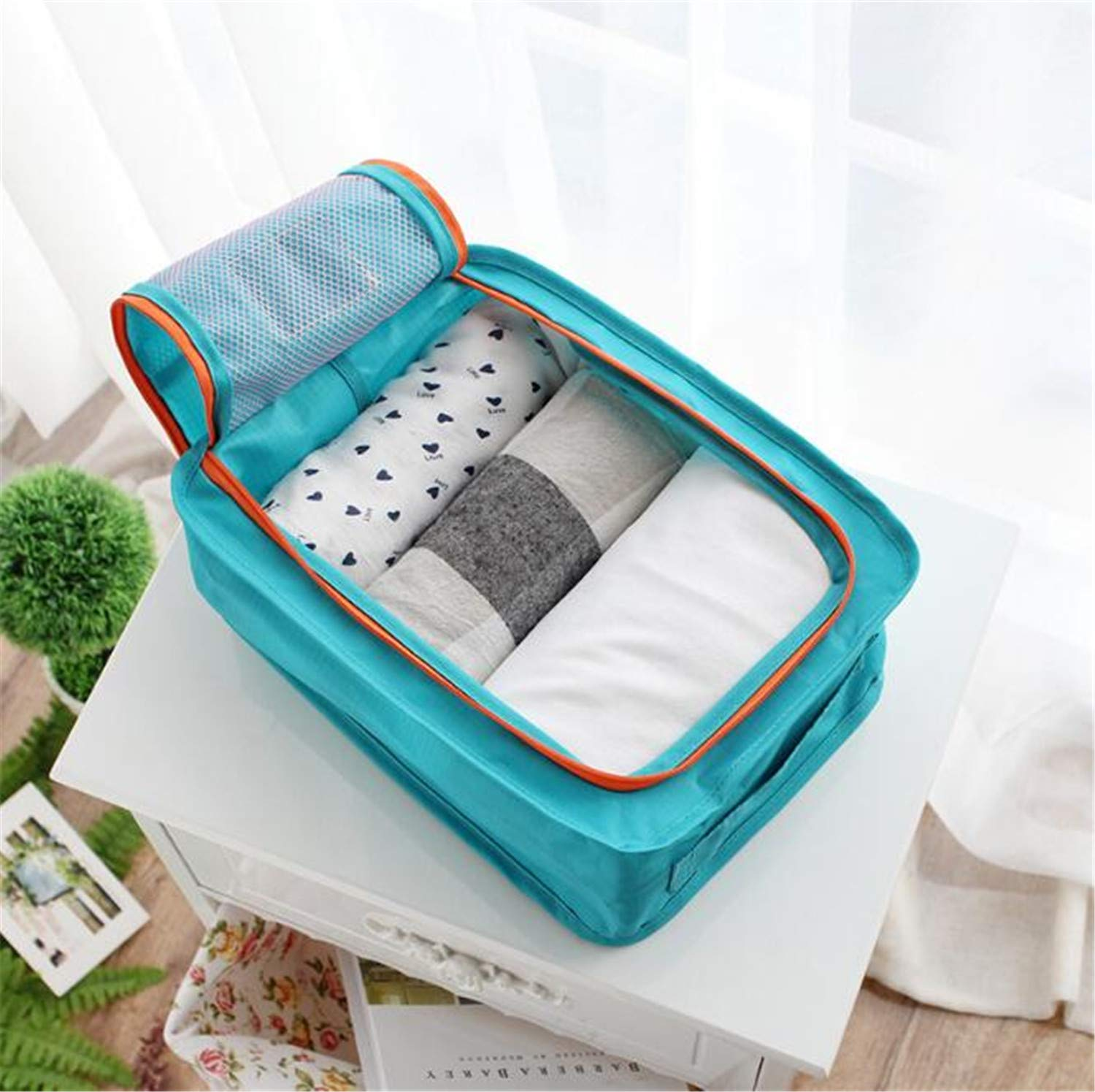 Light and Durable Nylon for All Kinds of Shoes 30x21.5cm MOREIA Travel Shoe Storage Bag Breathable Pouch Zipper Waterproof