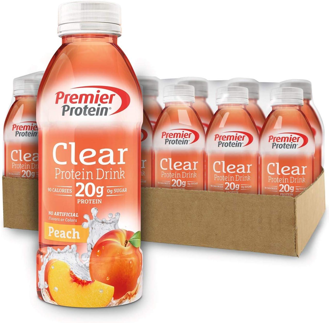 Premier Protein Premier Clear Protein Drink Peach (12/16.9 Fl Oz Net Wt 202.8 ), 202.8 Fl Oz