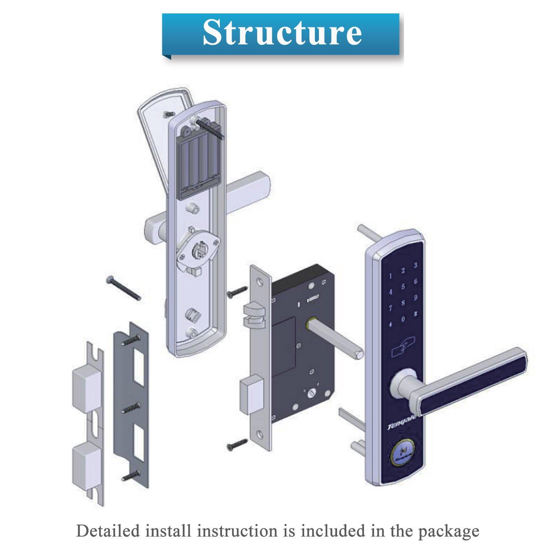 Electric Touchscreen Door Lock Keyless Combination Entry