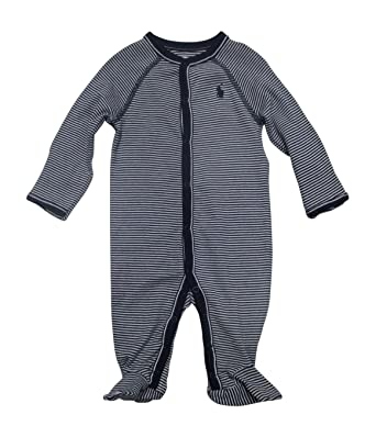 c2fb5f6d6c69 Amazon.com  Ralph Lauren Baby Boys Striped Cotton Jersey Coverall ...
