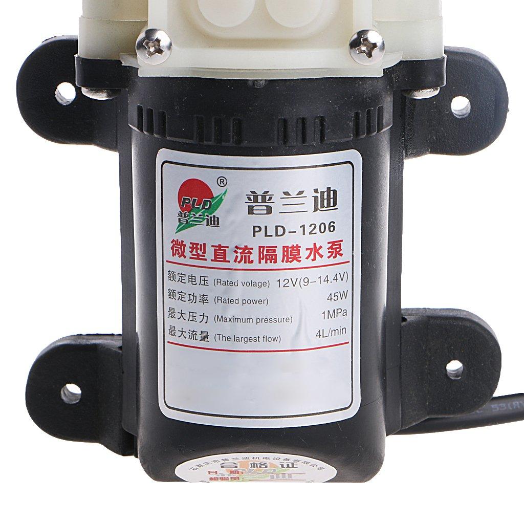 FXCO Pompe de transfert de lextracteur de carburant diesel /à huile /électrique de voiture 12V 45W avec allume-cigare