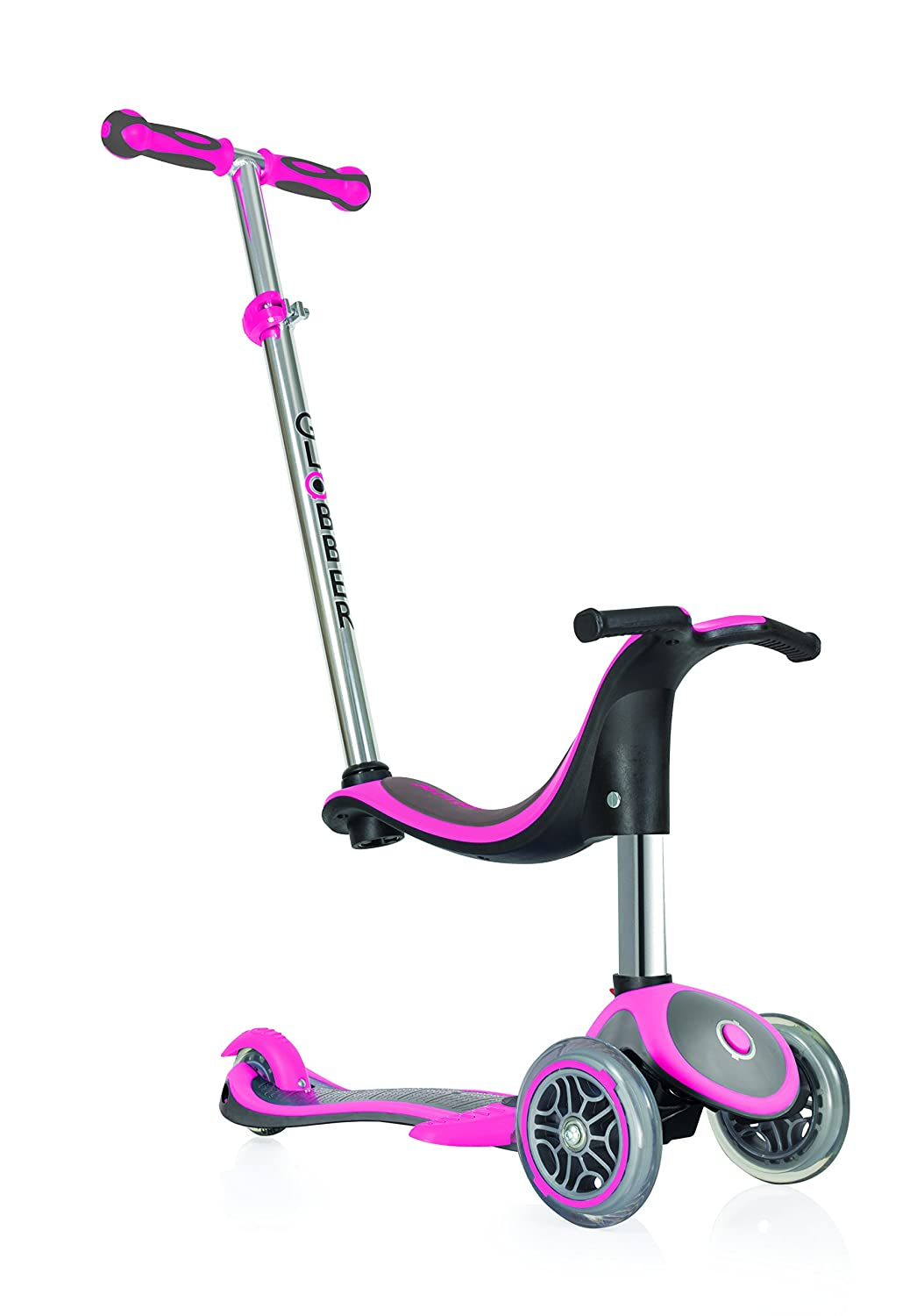 Globber Kinder Evo in Plus Scooter, Kinder, Evo 4-in-1 Plus Rosa Nicht zutreffend 453-132