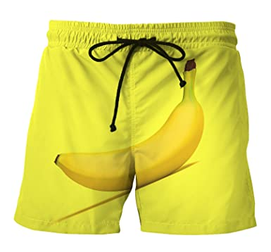b4464fb33a250 Custom Summer Men s Printing Shorts Outdoor Sports Large Size Banana Beach  Pants at Amazon Men s Clothing store