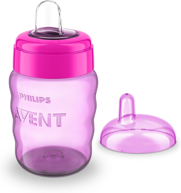 260 ml Philips Avent SCF553//03 v/álvula antigoteo para 9 meses Vaso con boquilla de silicona para ni/ña color rosa sin BPA